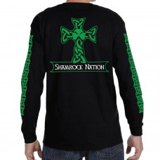 """The Classic"" Men's Celtic Cross Black Long Sleeve Shirt"