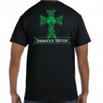 """The Classic"" Men's Celtic Cross Short Sleeve Black T-Shirt"